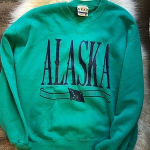 Sweaters - Alaska the last frontier vintage ski sweater